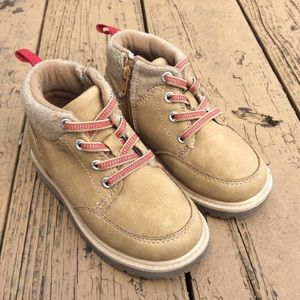 Cat & Jack Brown High Top Boots Sneakers